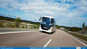 Linja-autonkuljettajan ammattipätevyysesitys